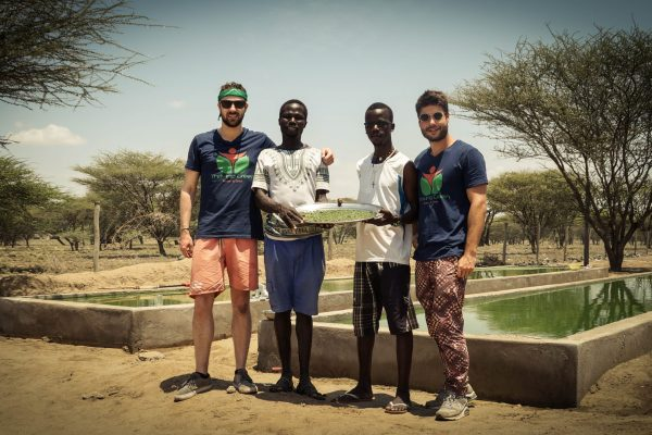 Persons Team Joseph Thomas Partner Spirulina Pond Nariokotome 2017