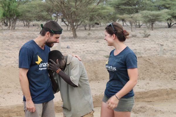 Personen Team Junge Lachen Wüste Nariokotome 2017