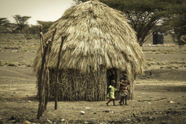 Hütte in Kenia